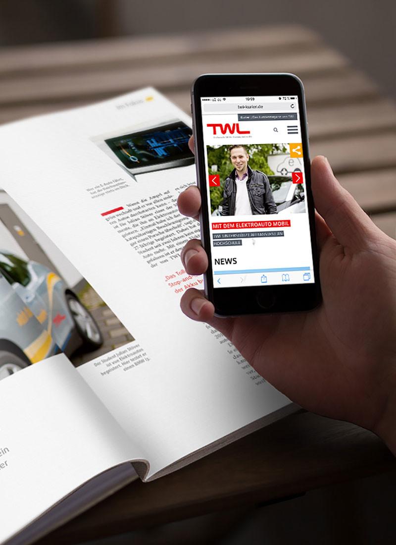 Print und online eng vernetzt