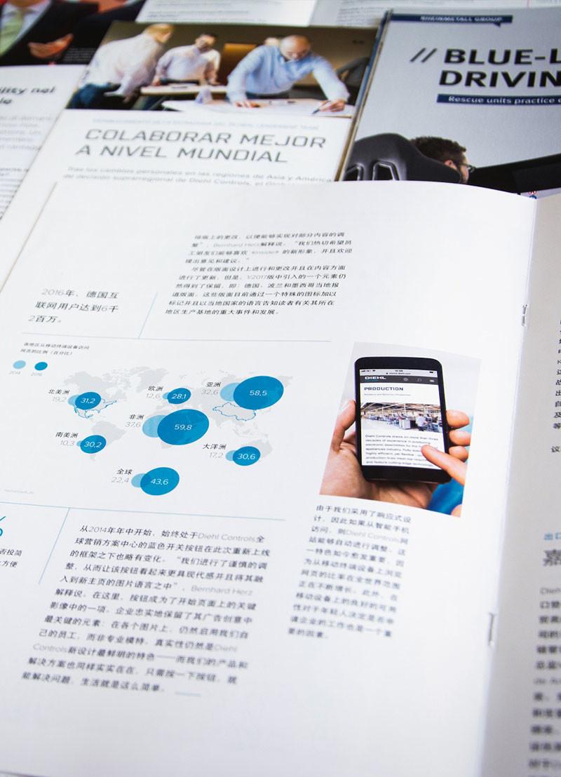 Ein Magazin, fünf Sprachen