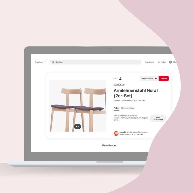 Durch die Katalog-Funktion können Endverbraucher Produkte direkt über Pinterest kaufen