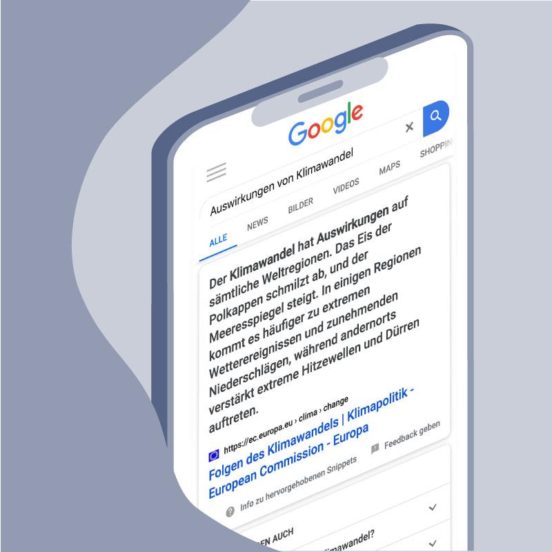 Featured-Snippet bei Google Suche