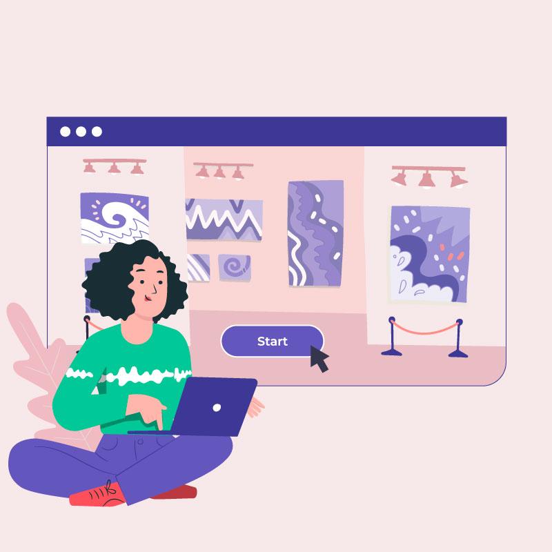 Museen und Kunst online anschauen